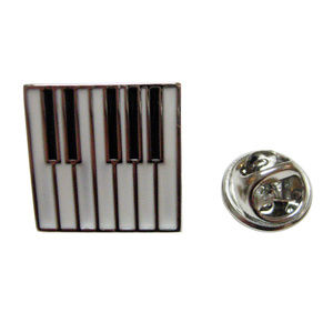 Square Piano Key Design Lapel Pin